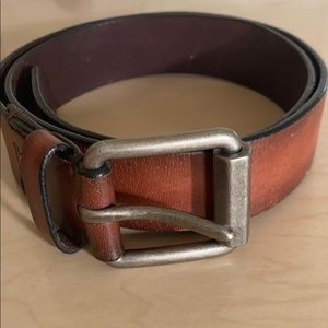 Levi tan/black woman's belt